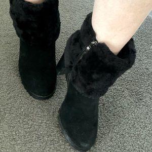 Ugh Black heeled boots